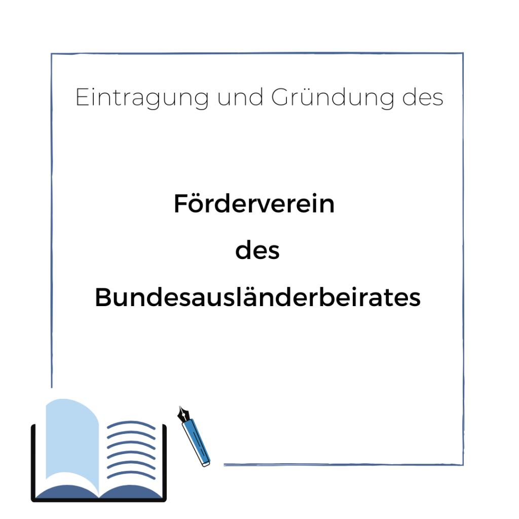 Gründung und Eintrag des Fördervereins