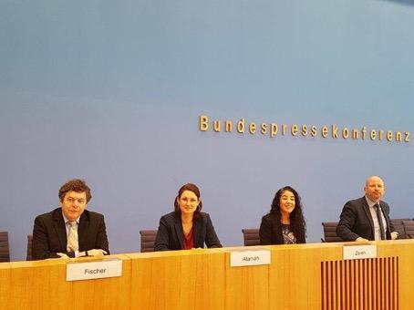 Pressekonferenz im Bundespresseamt zur Bundeskonferenz Migrantenorganisationen und Neue deutsche Organisationen