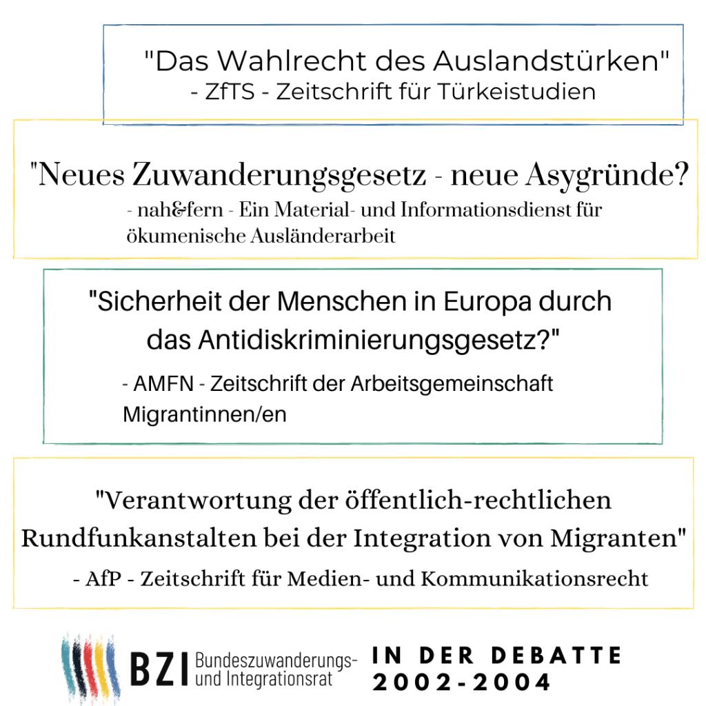Der BZI über das Zuwanderungs- und Antidiskriminierungsgesetz